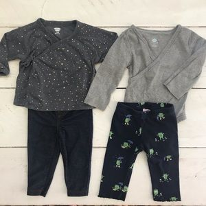 Blue & Gray Baby Girl 6-12 Month Lot